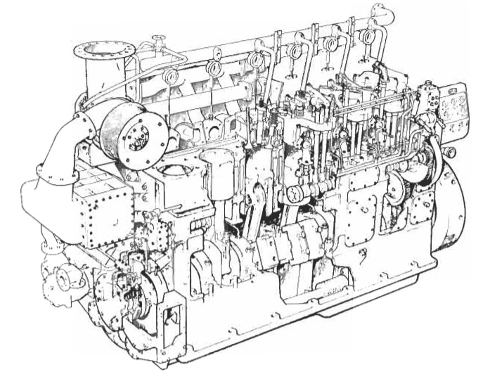 vee engine diagram